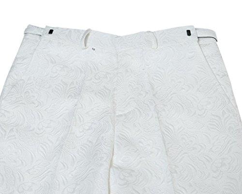 Herren 2-Teilig Anzüge Jacke Hose Bau Weiß Slim Fit von YOUTHUP Weiß