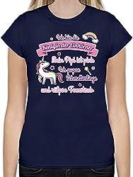 Einhörner - Königin der Einhörner - XXL - Navy Blau - L191 - Tailliertes Tshirt für Damen und Frauen T-Shirt