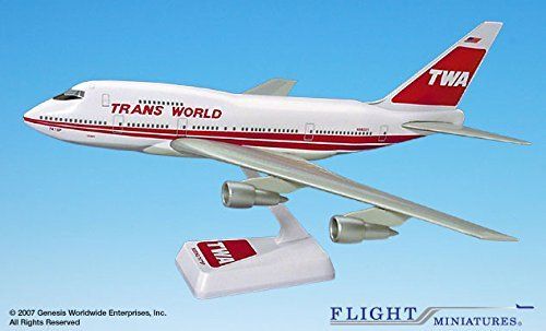 flight-miniatures-twa-trans-world-airlines-old-1974-boeing-747sp-1200-scale-display-model-with-stand