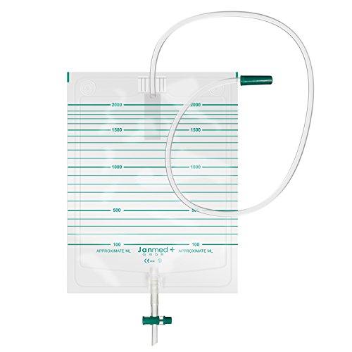 Urinbeutel unsteril, 10 Stück, 2000 ml, Schlauchlänge: 90 cm -