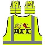 Bff Beer Friends Forever Chaqueta de seguridad amarillo personalizado de alta visibilidad gg163v