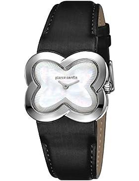 Pierre Cardin Damen-Armbanduhr Pétales Analog Quarz Leder Swiss Made