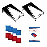 Original Cornhole Board Set - Black & White - 2 Cornhole Boards, 8 Bean Bags und Regelwerk