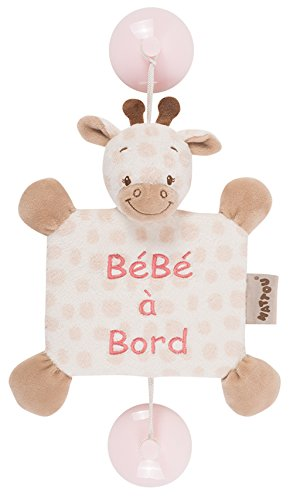 "Nattou 655347 Charlotte & Rose Ventouse ""Bébé à Bord"", Charlotte la girafe,"