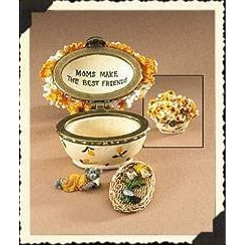 Boyds Treasure Box Momma's Sunny Bouquet with Daisy McNibble #82562 by The Boyds Collection LtdR ..... Treasure Box Series