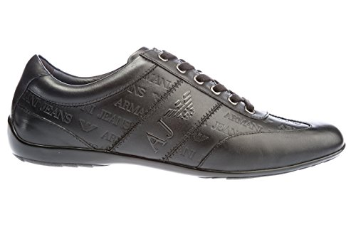 Armani Jeans Formal Embossed Sneaker Homme Chaussures Noir