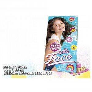 Kids Euroswan Toalla de 140 x 70 cm, Estampado Soy Luna, Algodón, Multicolor, 30x35x5 cm