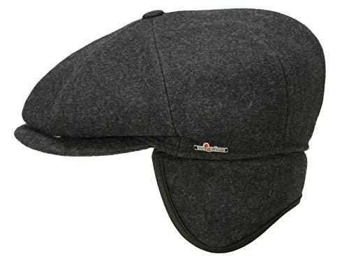 Wigens Gert Ballonmütze mit Ohrenklappen aus Wolle - Grau (96) - 62 cm