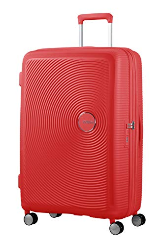 American Tourister Soundbox Spinner Large Expandable Bagaglio A Mano, 77 cm, 110 Liters, Rosso (Coral Red)