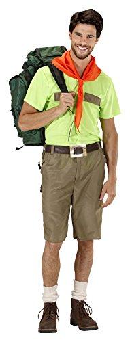 WIDMANN 2029-Boy Scout, Rot/Schwarz, Größe XL (Pfadfinder Kostüm Für Herren)