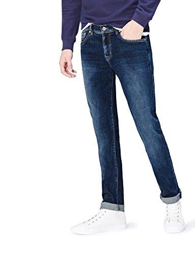 Wash Tapered Leg Jeans (FIND Herren Schmal zulaufende Jeans, Blau (Marsalis Wash), W36/L34 (Herstellergröße: 36))