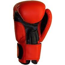 BenLee Rocky Marciano Fighter - Guante de boxeo (cuero) rojo rojo Talla:16 oz