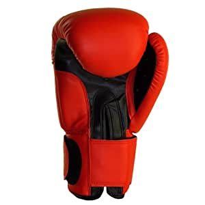 """BENLEE Rocky Marciano  Leder Boxhandschuh """"Fighter"""", Rot/ Schwarz (RED/BLACK), GröM-_e: 8 Oz."""
