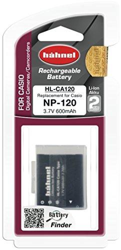 Hähnel HL CA120 Li-Ion Akku für Casio Digitalkameras - Ersatzakku für Casio NP-120 schwarz