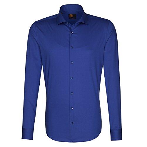 Seidensticker -  Camicia classiche  - Basic - Classico  - Uomo blau (0017)