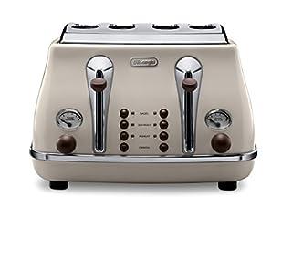 De'Longhi Vintage Icona CTOV4003BG 4-Slice Toaster - Cream (B0083VURP6) | Amazon Products