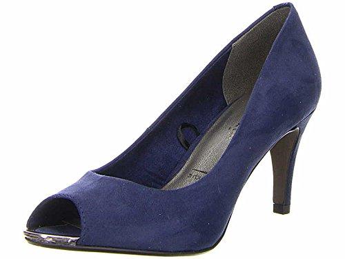 Tamaris Peeptoe Pumps 1-29302-20 Stiletto High Heel, Schuhgröße:39;Farbe:Blau