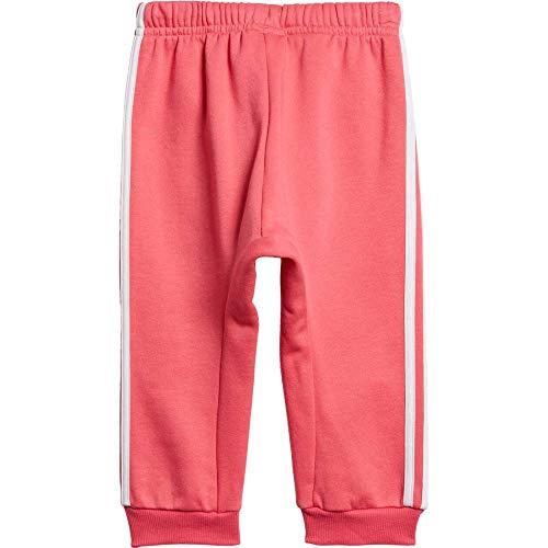 adidas Baby Jogginganzug I Logo Jog Fleece Active pink/REAL PINK S18/white 98