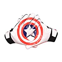 ‏‪LYCOS GEAR NFL Football Receiver Gloves (Captain America) - Youth/Adult Sizes Adult-Small‬‏