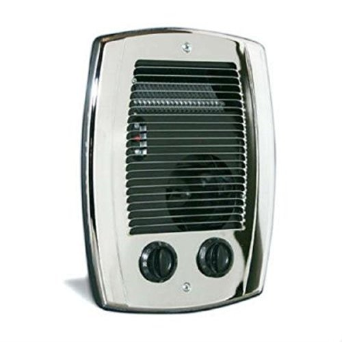 Cadet CBC103TCH Wall Heater, 1000W 240/120V Com-Pak Bathroom Heater Assembly w/Thermostat, Timer, Wall Can & Grill - Chrome