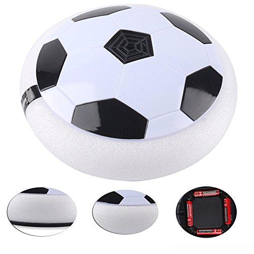 Fuson Air Power Soccer Disco Hover, Funny aire neumático balón de fútbol, fútbol con protectores de espuma en suspensión y luces LED, deslizamiento de disco bola disco juguete para Interior y Exterior