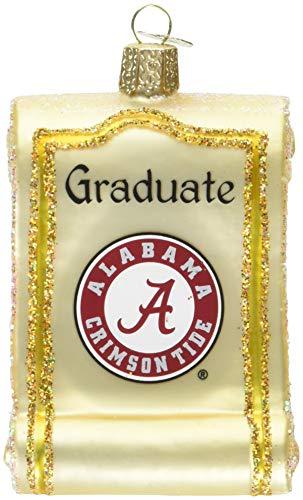 Old World Christmas University of Alabama Ornament Diplom Multi