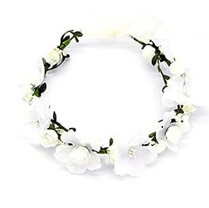 d82756e60e3ab8 Oblique-Unique® Blumen Haarband Stirnband Blumenkranz Haarschmuck  Kopfschmuck Bohemia Style Mädchen Damen - Farbe
