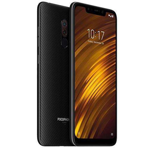 htfrgeds für Xiaomi Pocophone F1 64 GB + 6 GB RAM Dual Camera 6.18 LTE Ab Werk entsperrte Smartphone-Global-Version Mit einem Nicht entfernbaren Li-Po 4000 mAh-Akku (Schwarz) (Unlocked Gsm-telefone Tmobile)