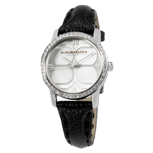 bcbg-maxazria-ladies-black-leather-strap-watch-bg6216