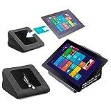 reboon Tablet Kissen für das Pearl Touchlet XWi 10 Twin - ideale iPad Halterung, Tablet Halter, eBook-Reader Halter für Bett & Couch