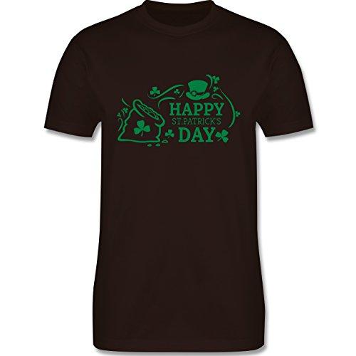 Festival - Happy St. Patricks Day Badge - Herren Premium T-Shirt Braun