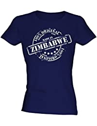Made In Zimbabwe - Ladies Fitted T-Shirt T Shirt Tee Top