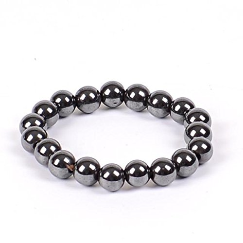 Malabar Gems Lab Certified Magnetic Hematite 8mm Beaads Bracelet  available at amazon for Rs.391
