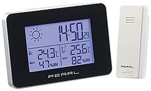 pearl funkthermometer wetterstation mit funkwecker thermo hygrometer und funk au ensensor. Black Bedroom Furniture Sets. Home Design Ideas
