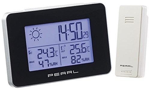 PEARL NX5793-944 Wetterstation mit Funkwecker, Thermo-/Hygrometer und Funk-Außensensor