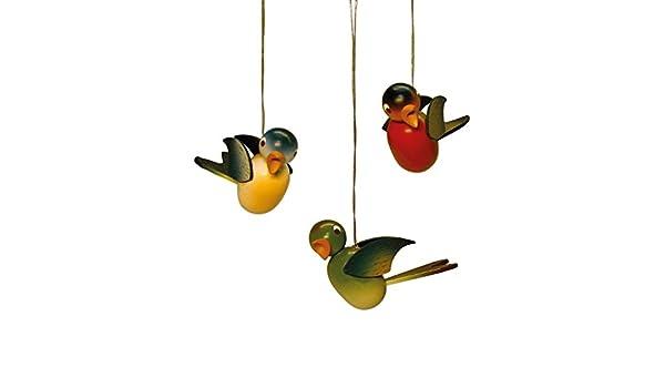 einzeln 5cm NEU Strauchbehang Osterschmuck Baumbehang Vogel hängend Grünfink