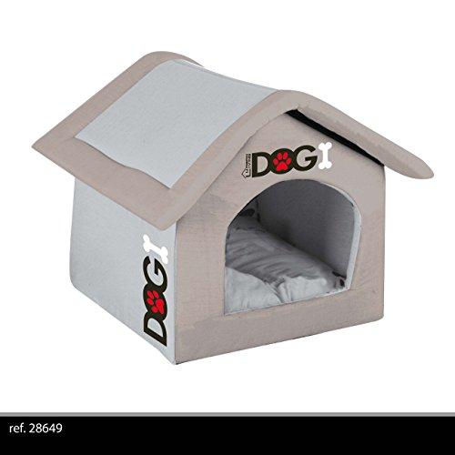 couleur rouge niche panier chien chat mousse confortable 54cm pliable interieur maison