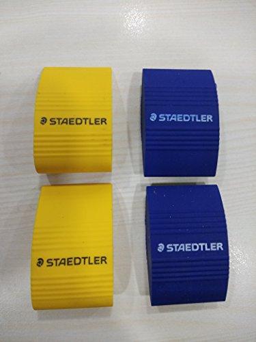 Staedtler Jumbo Eraser Pack- 4 (Blue & Yellow)