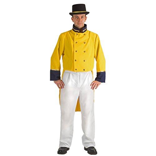 Krause & Sohn Postkutscher Kostüm Historische Uniform Post Frack gelb Fasching Berufe ()