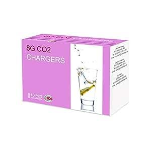 "ICO Three packs of 10 , ""CO2"" Soda Siphon Bulbs, Silver, 8g"