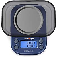 ACCUWEIGHT 255 Digital Pocket Jewelry Scale Portable Mini Electronic Weighting Multifunctional Precision Scale with Backlight LCD Display, Tare and PCS Features, 300g/ 0.01g