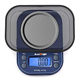 ACCUWEIGHT 255 Mini Bilancia di Precisione Digitale per Cucina Gioielli Oro Bilancia Tascabile Elettronica 300g/0,01g…