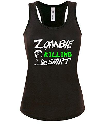 Zombie Killing Shirt - Damen Tanktop Schwarz / Bunt