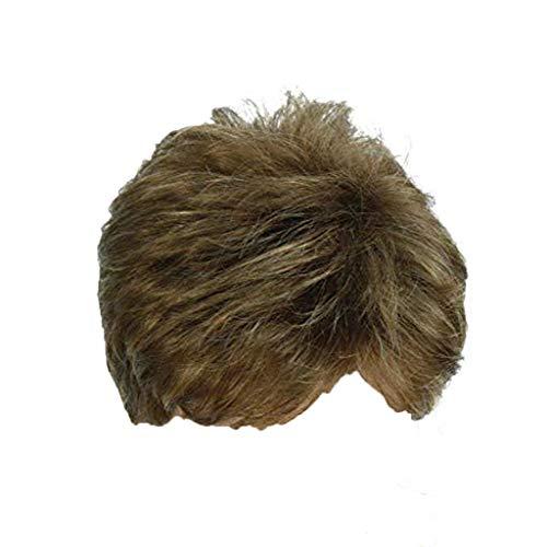 LMRYJQ Qualitativ Hochwertige Wig Herren Mode Gentleman Short Golden Brown Gradient Charming Cosplay Perücke ()