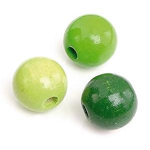 Gütermann / KnorrPrandell 6031420 - Madera Perla 12mm Bola Guisante Verde Mezcla, 30 Piezas / Bolsa Importado de Alemania