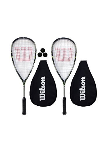 2 x Wilson Force 155 Squash Racket Set with 3 Squash Balls RRP €225