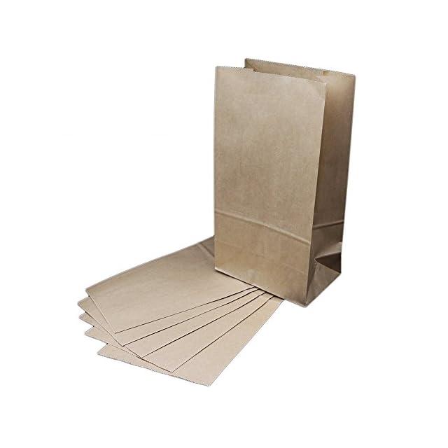 8645c82f38 The Young® Lot de 50 sacs papier grand cadeau sacs en papier kraft brun  marron ...