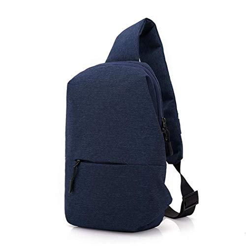 MWPO Sling Bag Shoulder Chest Backpack Daypack Lightweight Casual Outdoor Sport Travel with USB Charging Port for Men Women (Blue, Black, Gray) - Puller Loop
