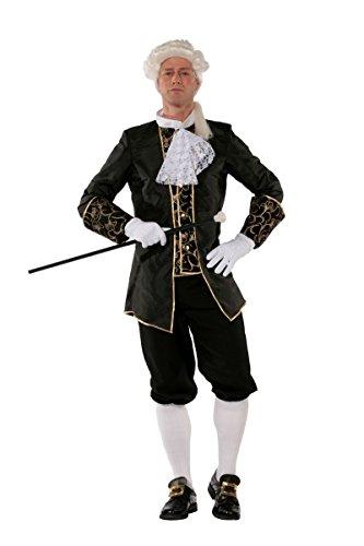 Historisches Herren Kostüm Barock schwarz Karneval Fasching Gr.50 (Historische Kostüme)