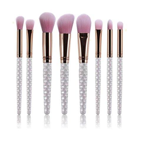 RY@ 8 Pcs / Set Maquillage Pinceaux Pour Fond de teint Eyeliner Blush Correcteur Cosmétique - Multicolore , D